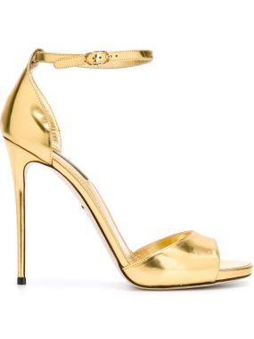 Dolce Gabbana Gold mirror sandals