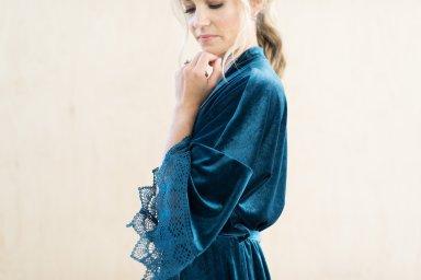dusty blue lace and velvet-robes-Ella-Winston lingerie $57