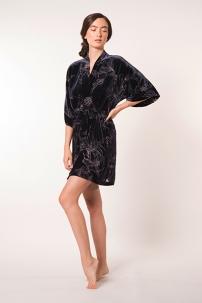 faberge-burn-out-velvet-short-robe lingerie