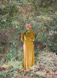 Foliosa Velvet Robe lingerie Twigs and Honey