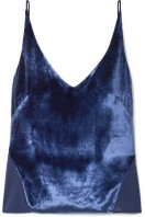 J Brand Lucy velvet and silk-georgette camisole $180