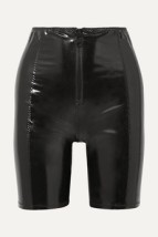 Lisa Marie Fernandez stretch-PVC shorts