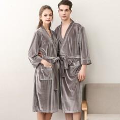 Lovers Women and Men velvet robes grey dhgate