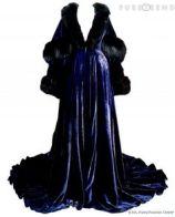 Navy blue velvet peignoir Marj Wadworth--peignoir-vivien-leigh