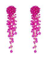 Oscar de la Renta Beading Earrings pink