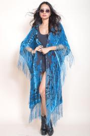 Saldana Vintage Baroque Me Silk Velvet Robe lingerie