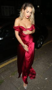 Rita Ora Satin dress Cartier event