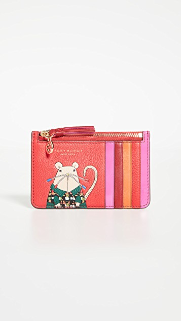 Tory Burch Year of the Rat card case