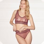 Else lingerie bare sporty bralette and briefs grape burgundy