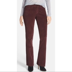 NYDJ Barbara bootcut brown corduroy small wale pants
