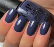 OPI 'Less is Norse' blue nail color