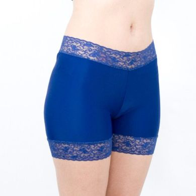 Blue spandex Biker Shorts