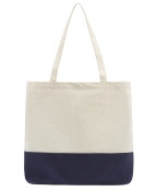 Planet E Canvas Tote Blue and White