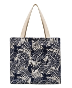 Planet E Canvas Tote Blue Leaf