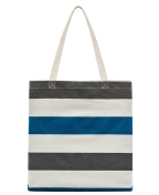 Planet E Canvas Tote White with Stripes