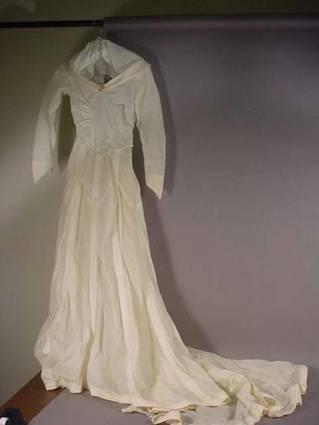 WW2 parachute wedding dress Galloway