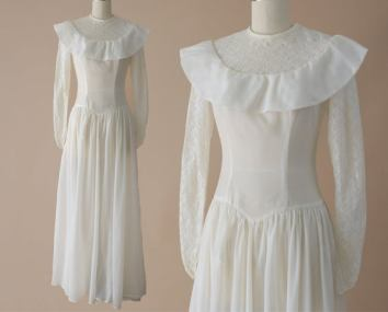 WW2 parachute wedding dress nylon