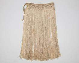 WW2 parachute woven skirt from the Pacific WWII Museum
