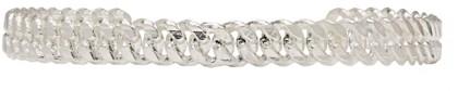 Pearls Before Swine Silver Sliced Curb Link Choker