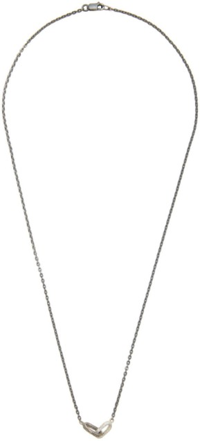 Pearls Before Swine Silver Textured Double Link Necklace