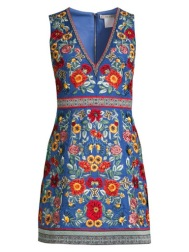 Alice-And-Olivia-Wildflower-Pattie-Embroidered-Dress