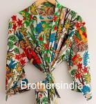 BrothersIndia Etsy Cotton Kimono Handblock printfloral