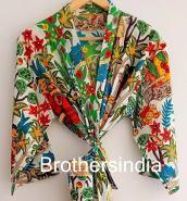 BrothersIndia Etsy Cotton Kimono Handblock print floral