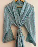 BrothersIndia Etsy Cotton Kimono Handblock print seagreen