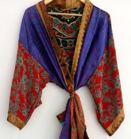 BrothersIndia Etsy Silk Sari fabric kimono Ethnic
