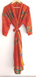 BrothersIndia Etsy Silk Sari fabric kimono upcycled