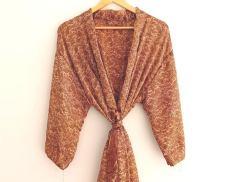 BrothersIndia Etsy Silk Sari fabric kimono