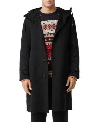 Burberry 100% Cashmere Hoodie Overcoat $3590
