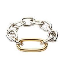 Silver and Gold large link bracelet