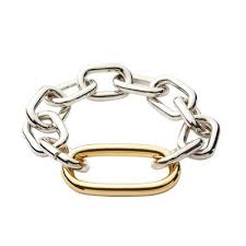 Silver and Gold large link bracelet