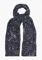 Lily and Lionel Black Astrology Scarf $280