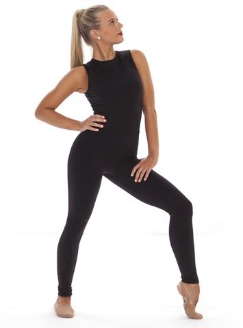Cat Black Sleeveless Legging Unitard Front
