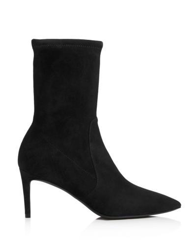 Cat Stuart-Weitzman-Black-Womens-Wren-High-Heel-Booties Suede