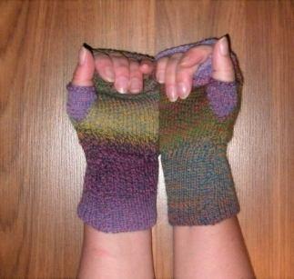 Etsy Fingerless Gloves Ombre