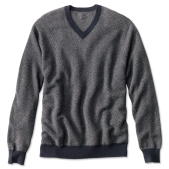 Orvis Broken-Herringbone Cashmere Sweater $269 minus $50