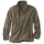 Orvis Green Mountain Snap Neck Fleece Brown Herringbone $129 –$25