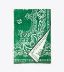tory-burch-bandana-towel green