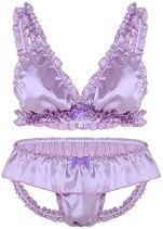 Men's Sissy Ruffles Set Lavender