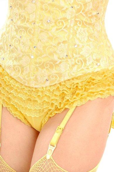 Trashy lace and ruffles yellow