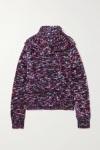 Dries van Noten Melange Merino Wool Blend CardiganPurple