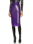 Saint Laurent Latex Pencil Skirt inPurple