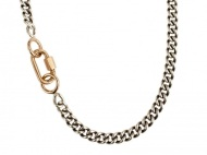 Marla Aaron 14K Baby lock and Sterling Silver Chain