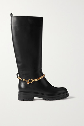 gianvito-rossi-chain-embellished-leather-knee-boots-black