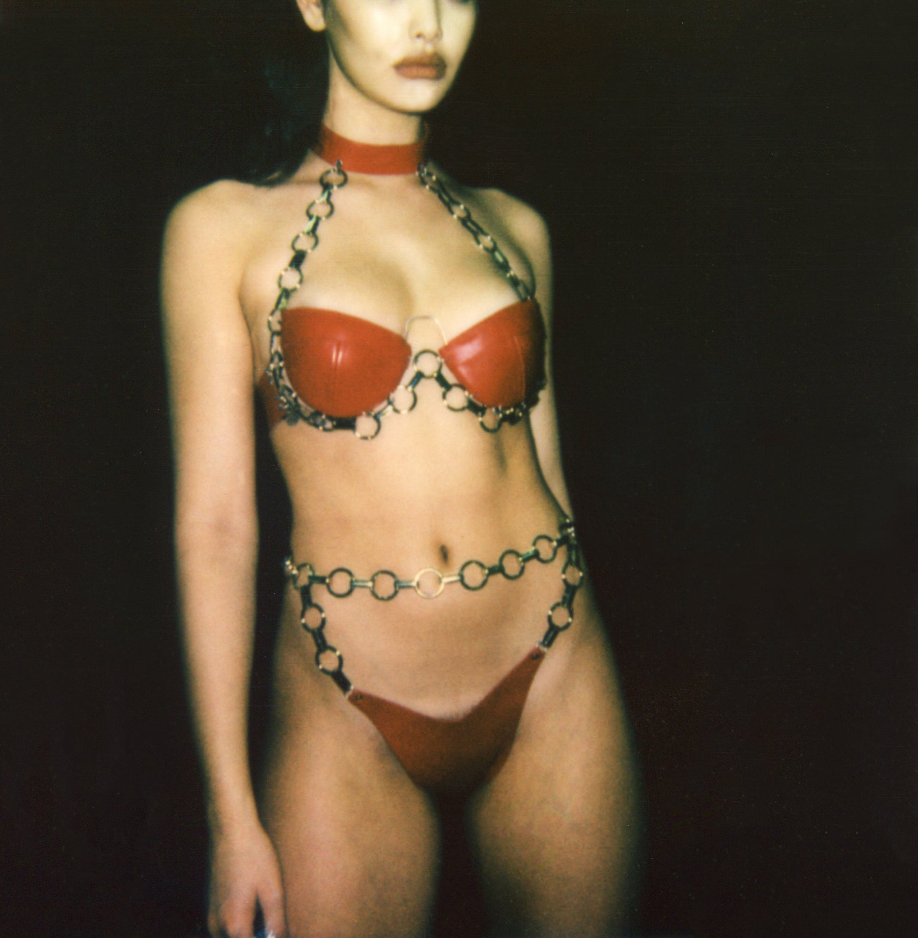 R and M Leathers Chain Bra