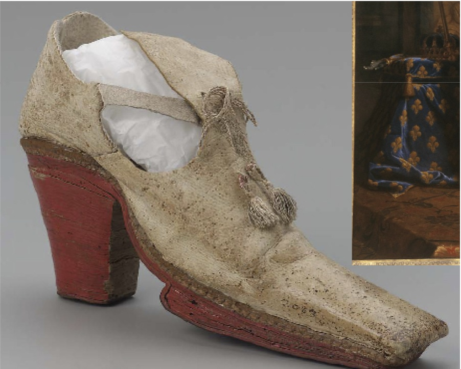 red heels of King Louis XIV