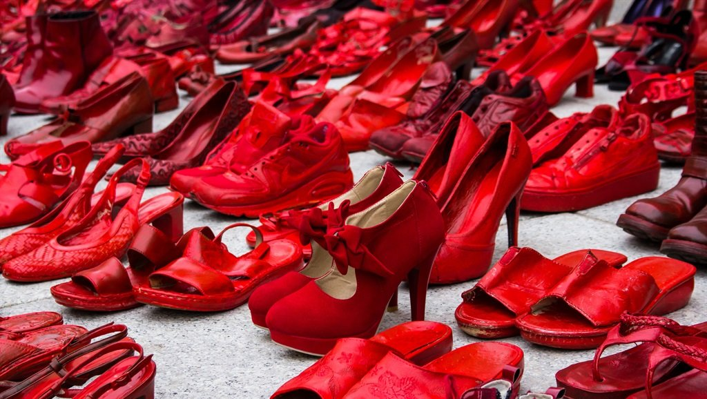 Red Shoes tribute to victims of violence Photo-istock